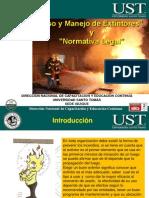 Manejo de Extintores y Normativa Legal