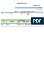 KDM - Weekly Status Report - TL