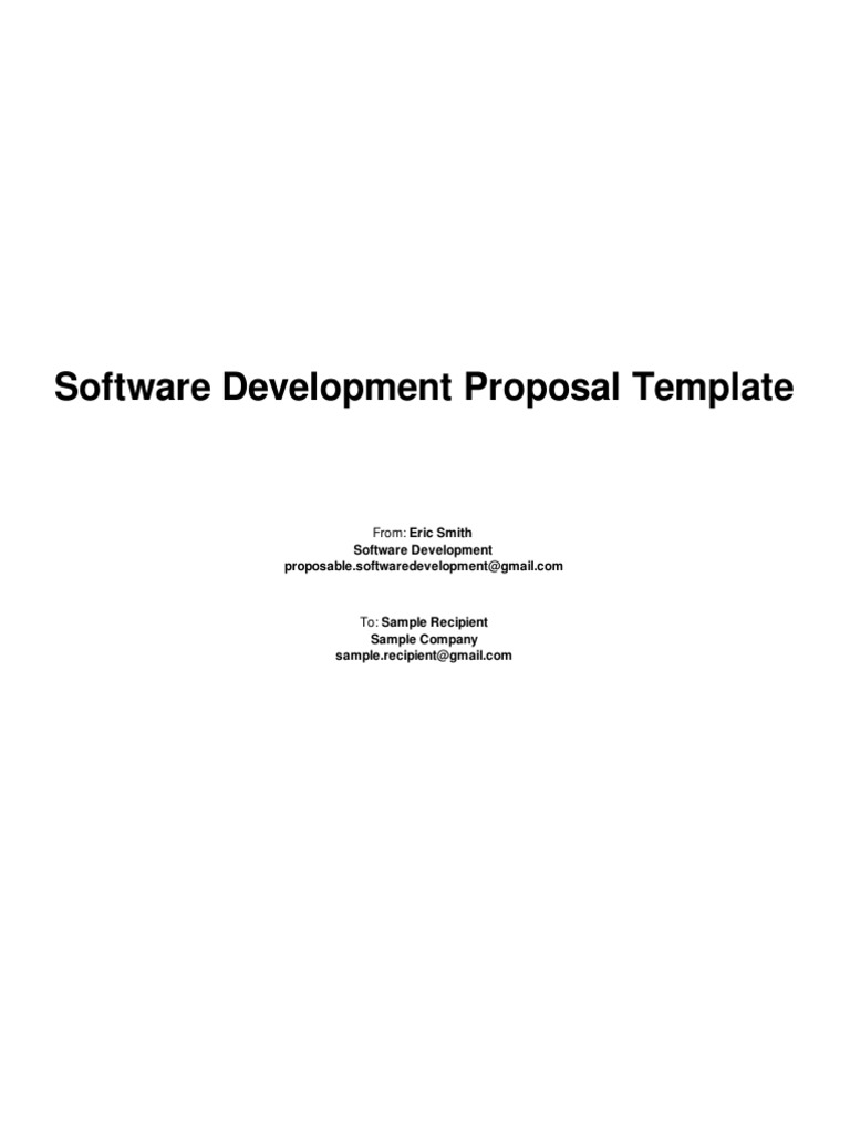 Software Development Proposal Template Verification And Validation