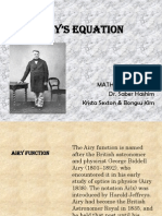 Airy's Equation Power Point
