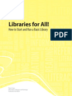 Peace Corps Libraries for All! How to Start and Run a Basic Library
