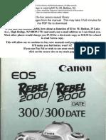 Canon Eos Rebel 2000 300