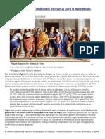 El Sínodo 2014- Condiciones Necesarias Para El Matrimonio Sacramental