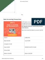 Basic Accounting Transactions