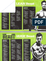 Body Beast Workout Schedules
