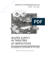 Army - fm10 52 - Water Supply in Theaters of Operations