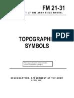 Army - fm21 31 - Topographic Symbols
