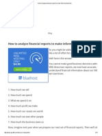 How to Analyze Financial Reports to Make Informed Decisions