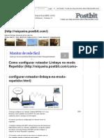 Como configurar roteador Linksys no modo Repetidor.pdf