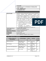 Experienced Testing Resume Template
