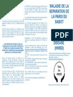 MALADIE DE LA SEPARATION DE LA PAROI DU SABOTHOOF-WALL SEPARATION DISEASE (HWSD)