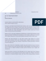 Surat Menteri Tentang Pelaksanaan Kurikulum 13