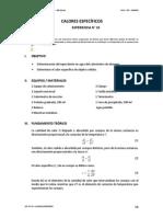 FG 10 Calores Especificos