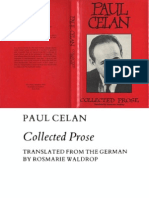 Paul Celan Collected Prose