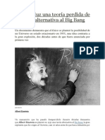 Sale a La Luz Una Teoría Perdida de Einstein Alternativa Al Big Bang
