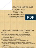 Computer Drafting Lab(CD Lab) Final