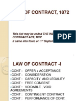 Law of Contract, 1872