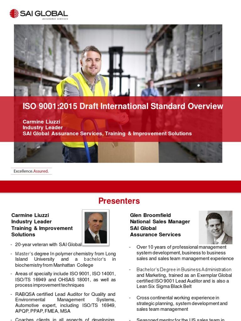 ISO 9001-2015 Presentation pdf | Internal Audit | Quality Management