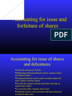 Issue Forfeiture of Shares