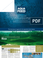 Active ingredients for healthy animals, Rice - the technological ingredient for aquafeed