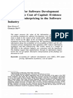 Accounting for Software Development Costs and the Cost of Capital Evidence From IPO Underpricing in the Software Industry