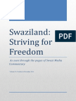 Swaziland Striving for Freedom Vol 16 Oct- Dec 2014