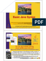 Basic Java Syntax by Marty Hall