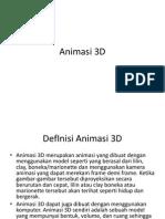 Teknik Animasi 3 Dimensi