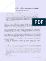 The Rationality of Renaissance Magic
