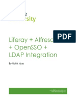 Liferay Alfresco OpenLDap OpenSSO