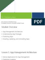 Module 6 - Publishing Apps