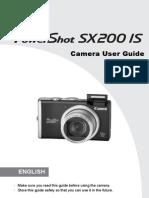 Canon SX200IS PowerShot User Manual