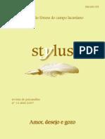 Stylus - 14 - Amor, Desejo e Gozo