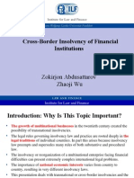 Cross-Border Insolvency of Financial Institutions