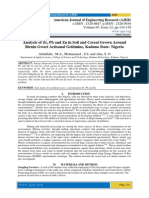 Analysis of Zr, Pb and Zn in Soil and Cereal Grown Around Birnin Gwari Artisanal Goldmine, Kaduna State- Nigeria