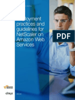 Deployment Practices and Guidelines for Netscaler Amazon Web Services