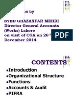 Presentation to CGA