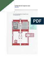 Plano de la Sala Hipóstila del  Templo de Amón