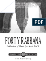 Forty Rabbana (Collection of Short Quranic Dua)