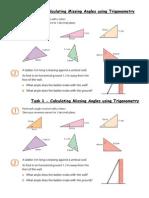 Task 1 - Missing Angles