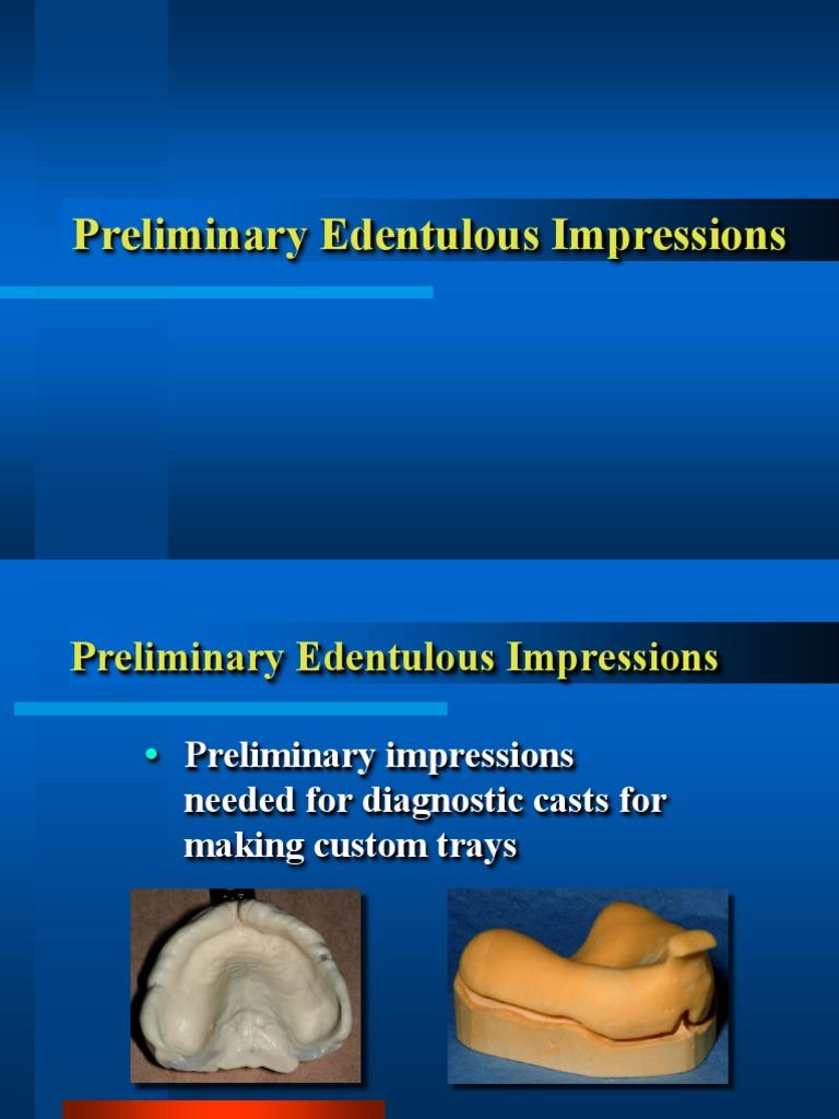 02. Prelimin Impressions.ppt | Tongue | Dentures