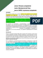 La Persona Competente. Hna. Montserrat Del Pozo