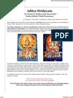 Aditya Hridayam - The Heart of Aditya, The Sun God