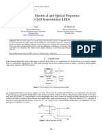 Study of Electrical and Optical Properties in GaN homostruture LEDs
