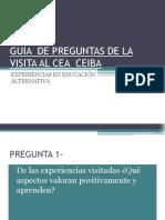 Guía de Preguntas de La Visita Al Cea