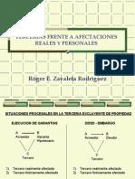 TERCERIAS FRENTE A AFECTACIONES REALES Y PERSONALES
