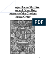 Holy Biographies of the Five Founding Masters of the Sakya Order