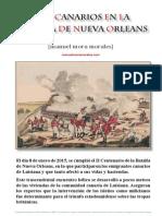 Los canarios en la Batalla de Nueva Orleans. Noticias inéditas
