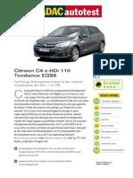 Citroen C4 e HDi 110 Tendance EGS6