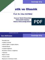 Olasılık Ve İstatistik - Erzurum Teknik Üniversitesi Ders Notları